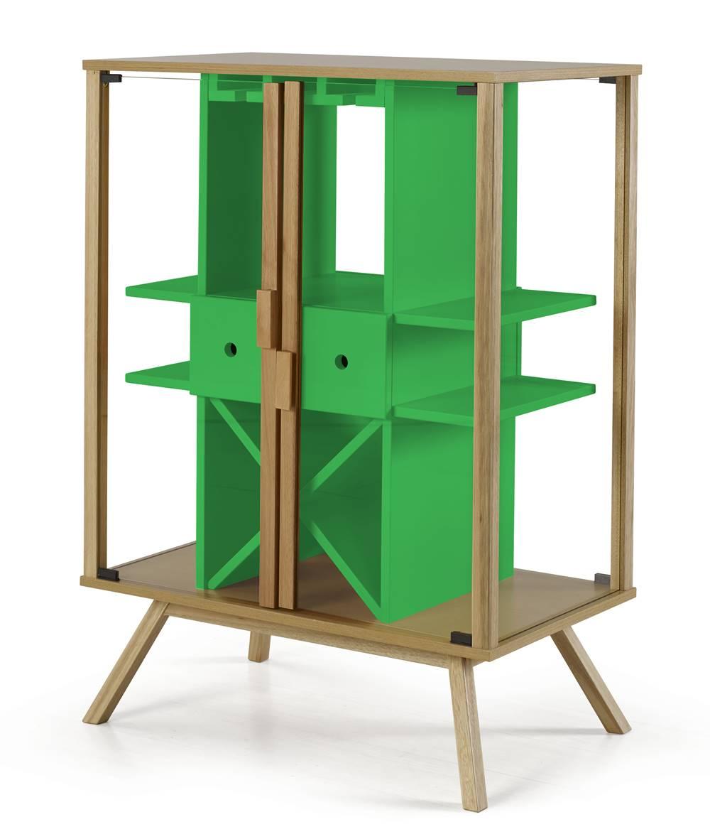 Cristaleira Mystic Cor Natural Com Verde - 29110