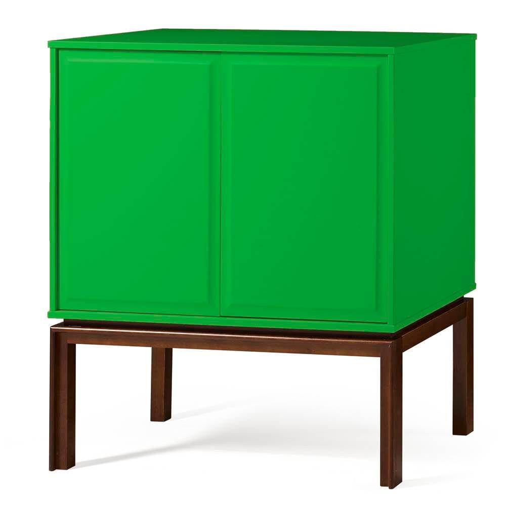 Adega Quartzo 2 Portas Cor Cacau Com Verde - 29132