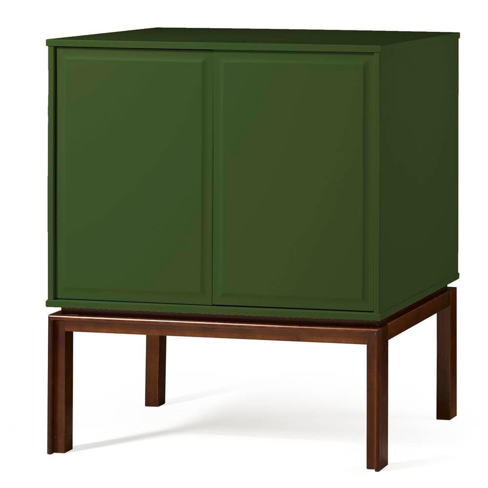 Adega Quartzo 2 Portas Cor Cacau Com Verde Escuro - 29133