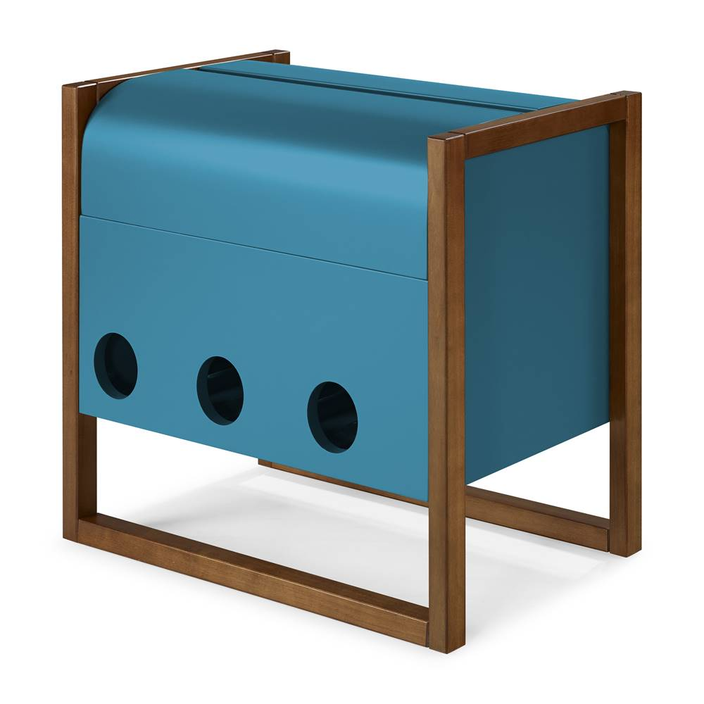 Mini Bar Canyon Cor Cacau Com Azul - 29463