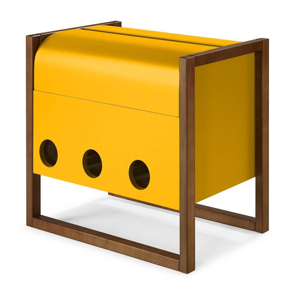 Mini Bar Canyon Cor Cacau Com Amarelo - 29464