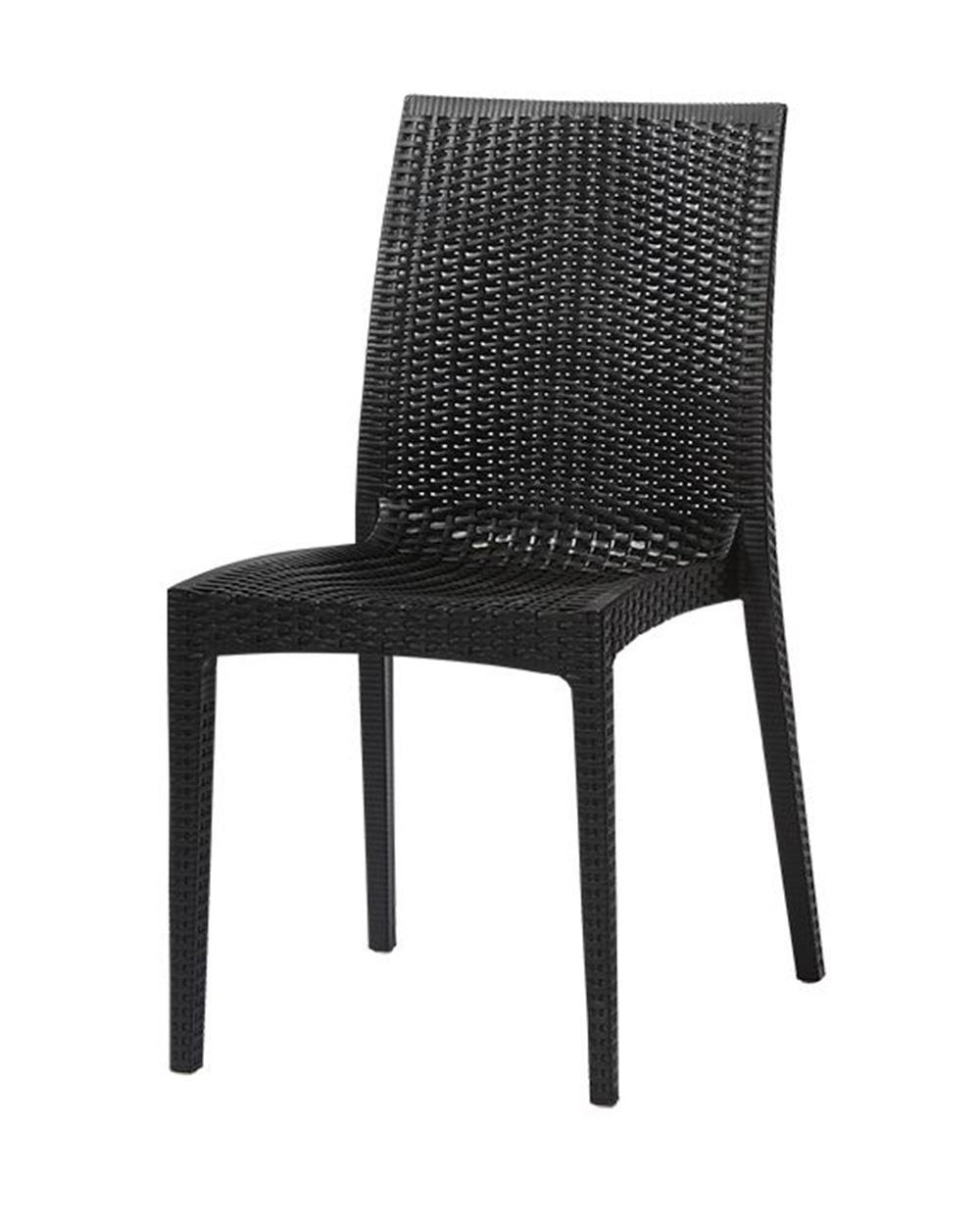 Cadeira Ibiza Polipropileno Cor Preto - 29679