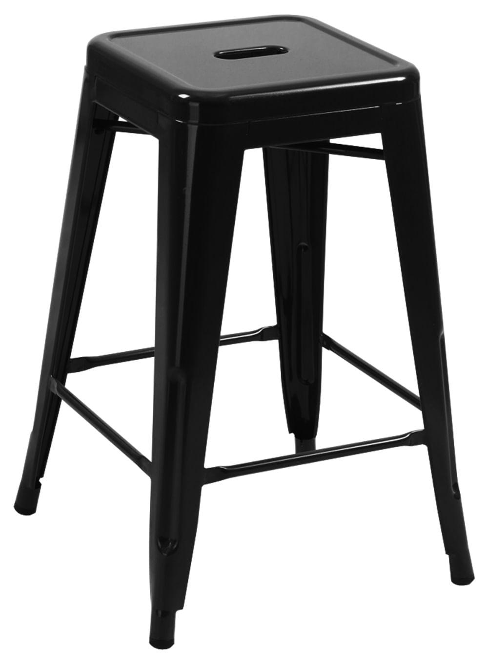 Banqueta Industrial Iron Preta Media 67 cm (ALT) - 24880