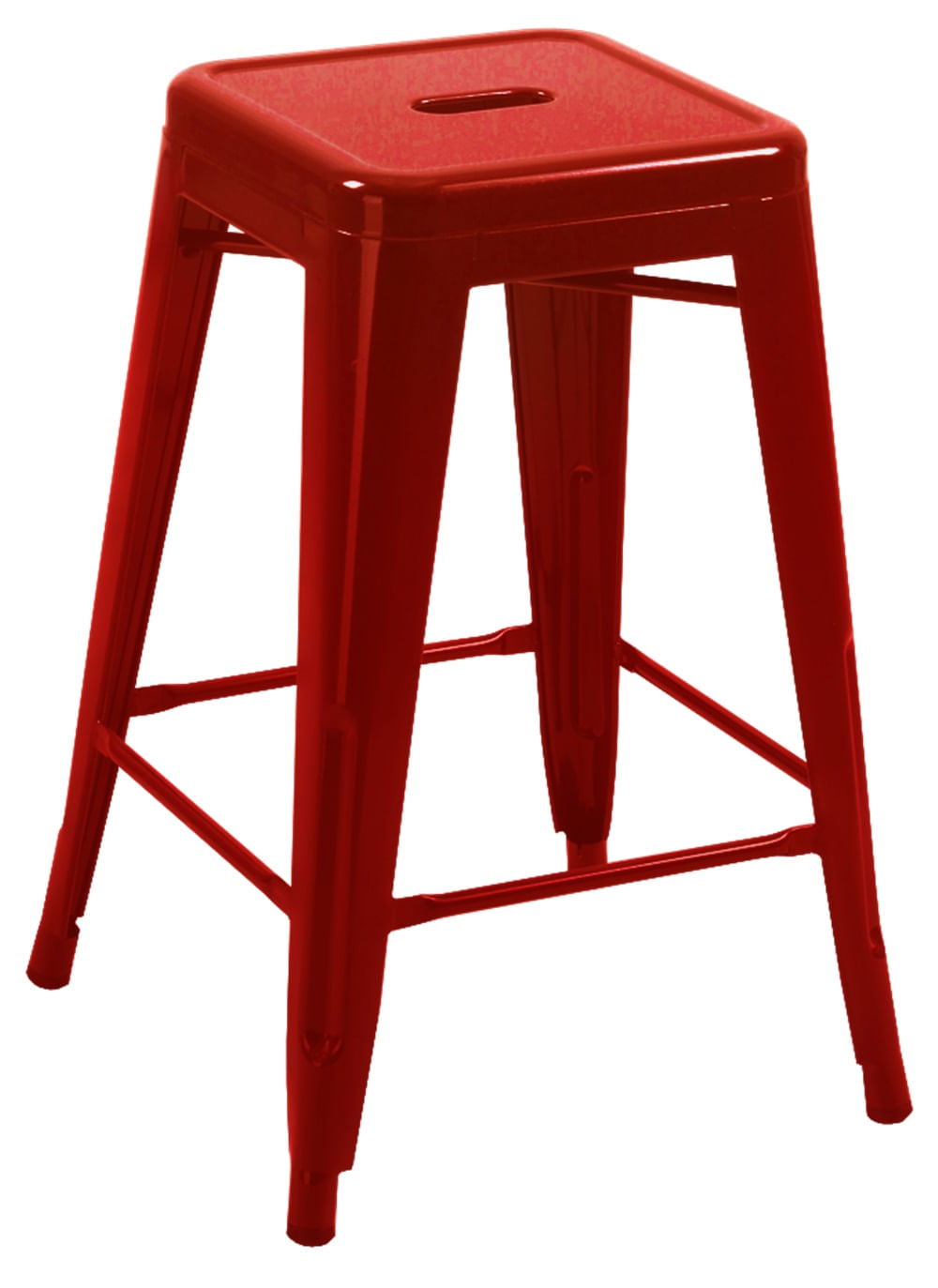 Banqueta Industrial Iron Vermelha Media 67 cm (ALT) - 24882