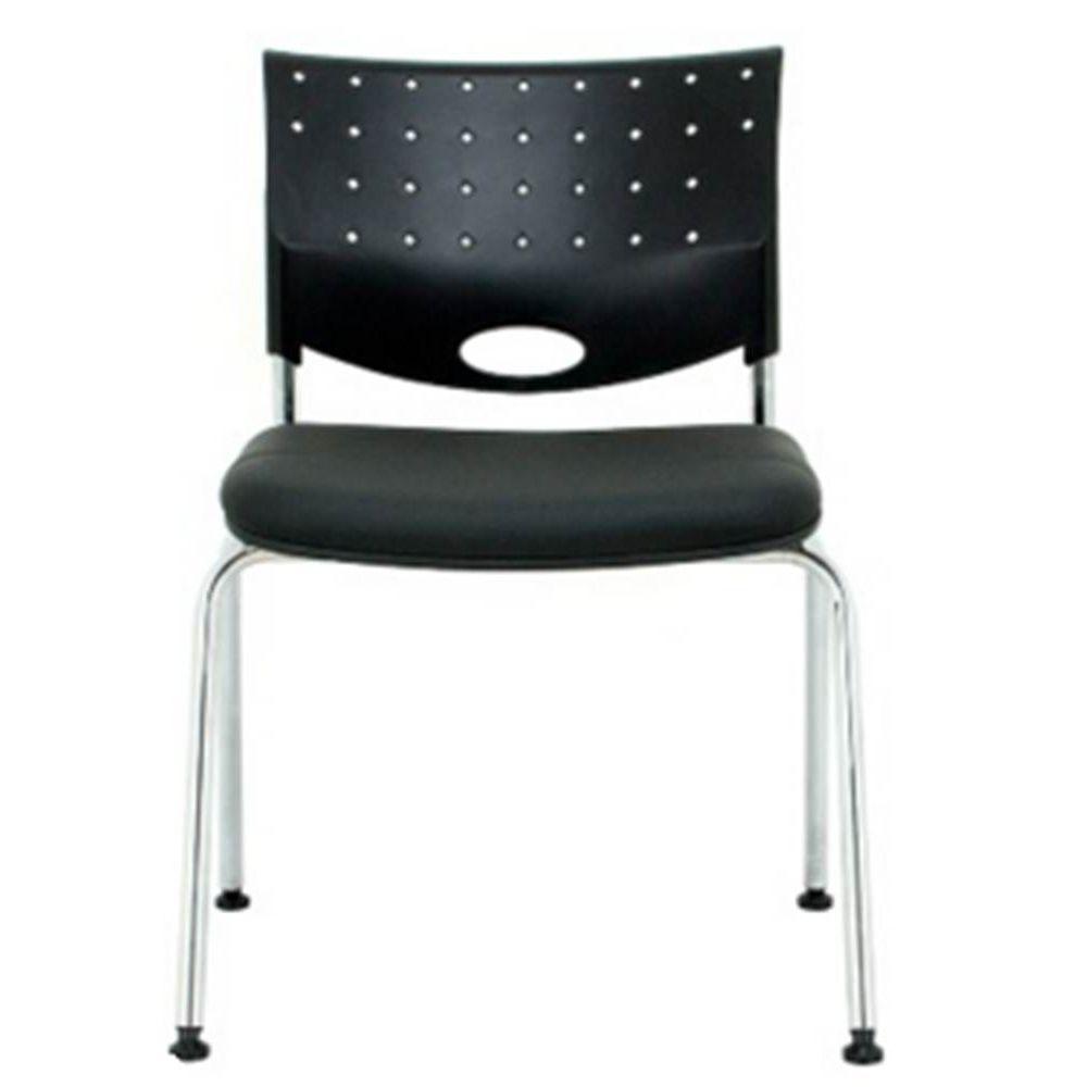 05996f8d6e Cadeira Rombo Cromada Encosto Preto Assento Preto - 30374 - SunHouse