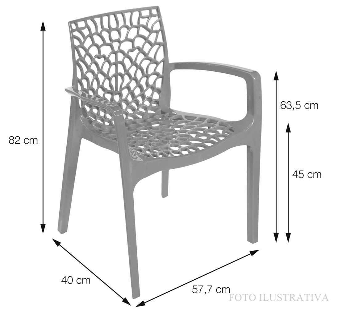 Cadeira Gruver com Braco Polipropileno Laranja - 30475