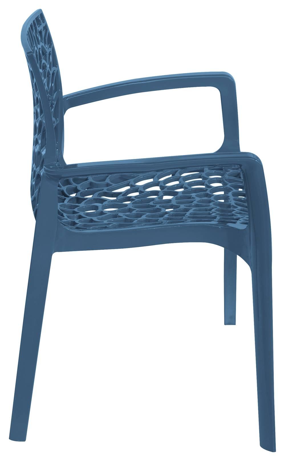 Cadeira Gruver com Braco Polipropileno Azul - 30480