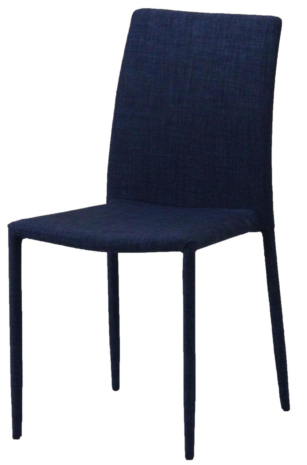 Cadeira Indonesia Estofada Tecido Sintetico Azul - 30743