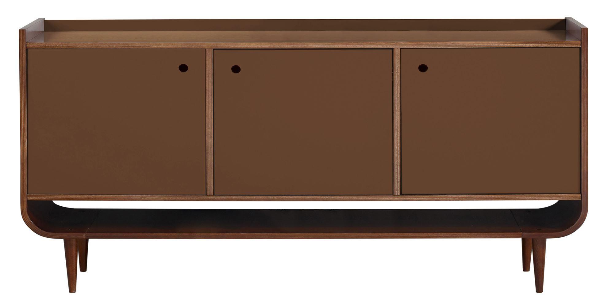 Buffet Dylan C/ 3 Portas Madeira Cor Cacau/Marrom - 30761