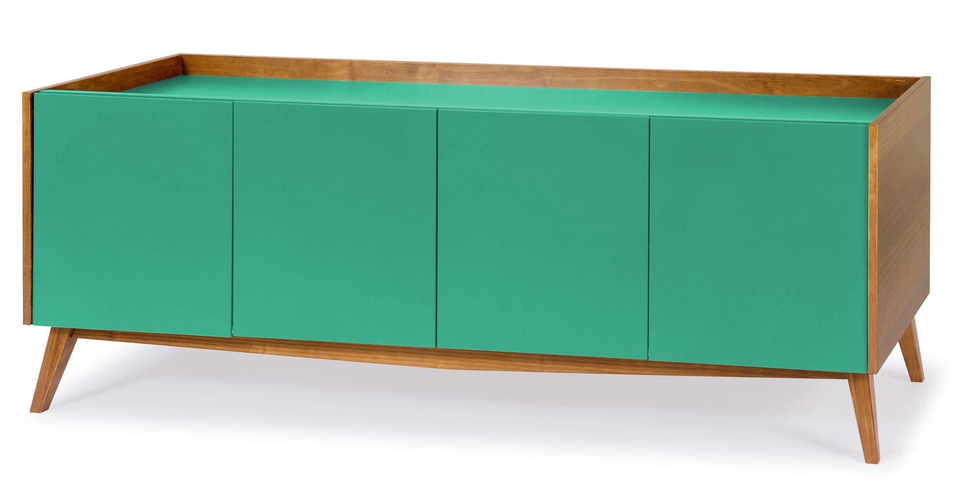Buffet Novita Amendoa/Branco Portas Laca Verde Anis - 30771