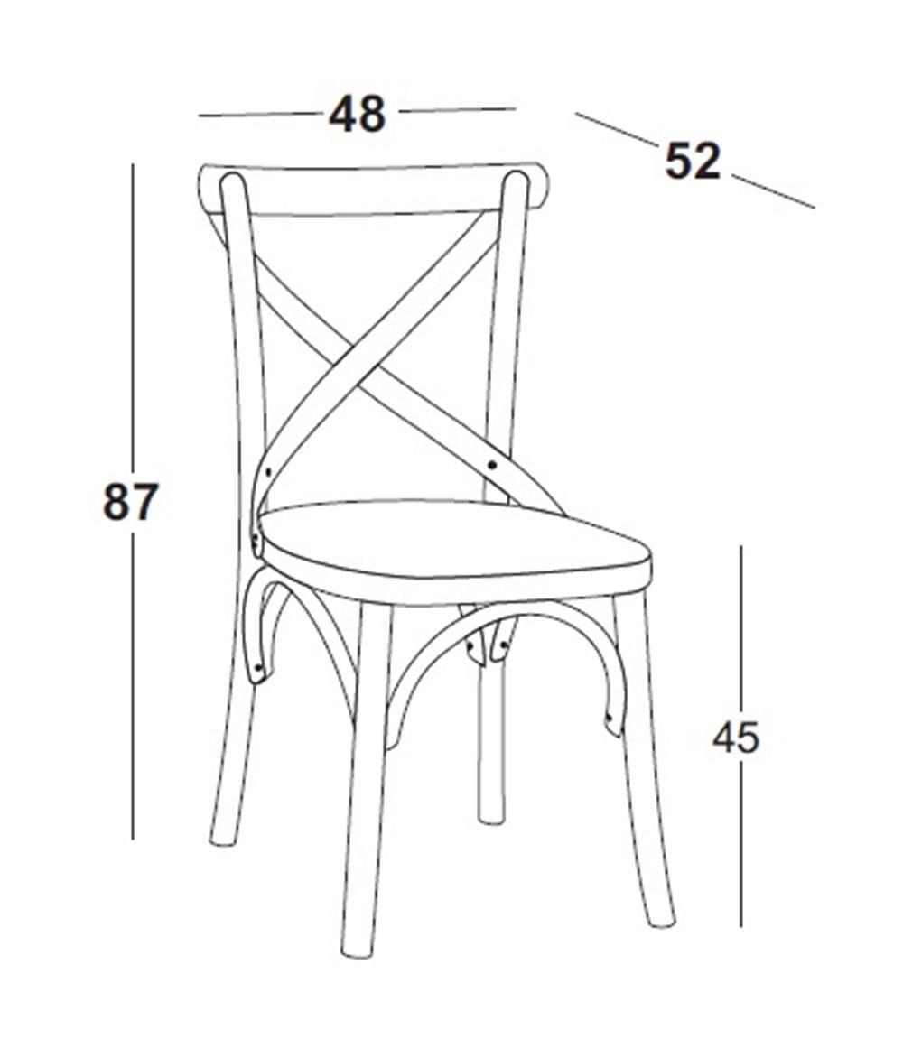 Cadeira X Cor Marrom Claro - 31329