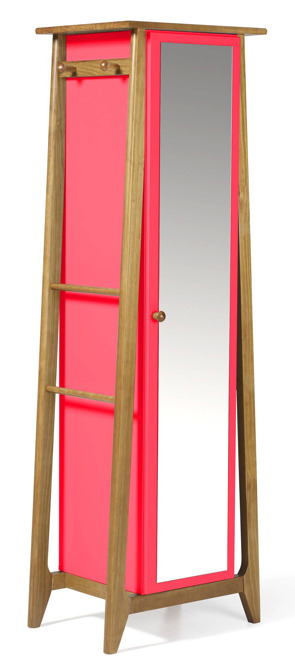 Armario Multiuso Stoka Cor Amendoa Com Rosa - 31599