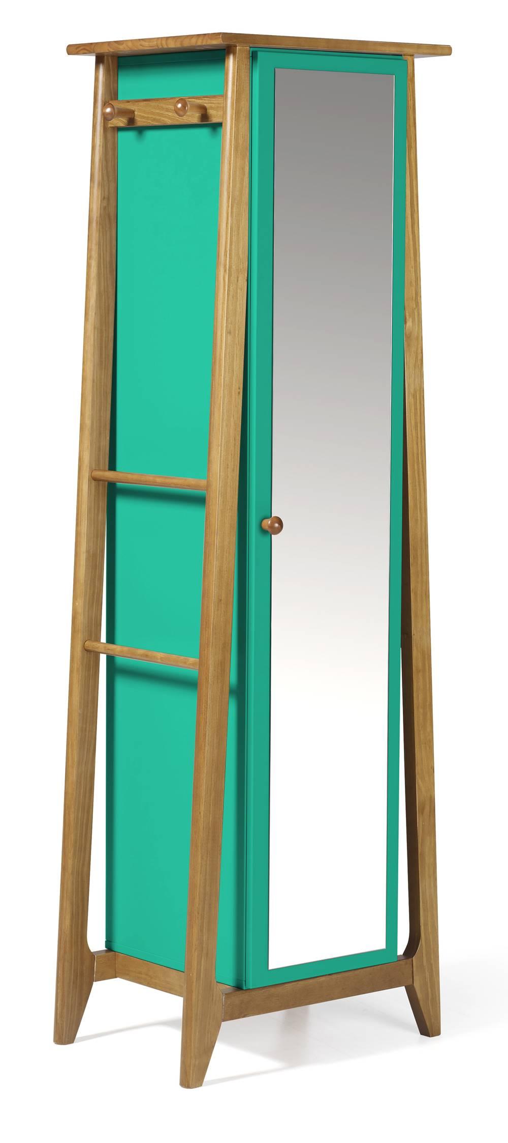 Armario Multiuso Stoka Cor Amendoa Com Verde Anis - 31606