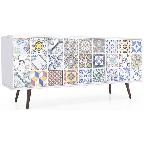 Buffet-Azulejos-Gregos-3-Portas-Pes-Palito-150-MT---30035