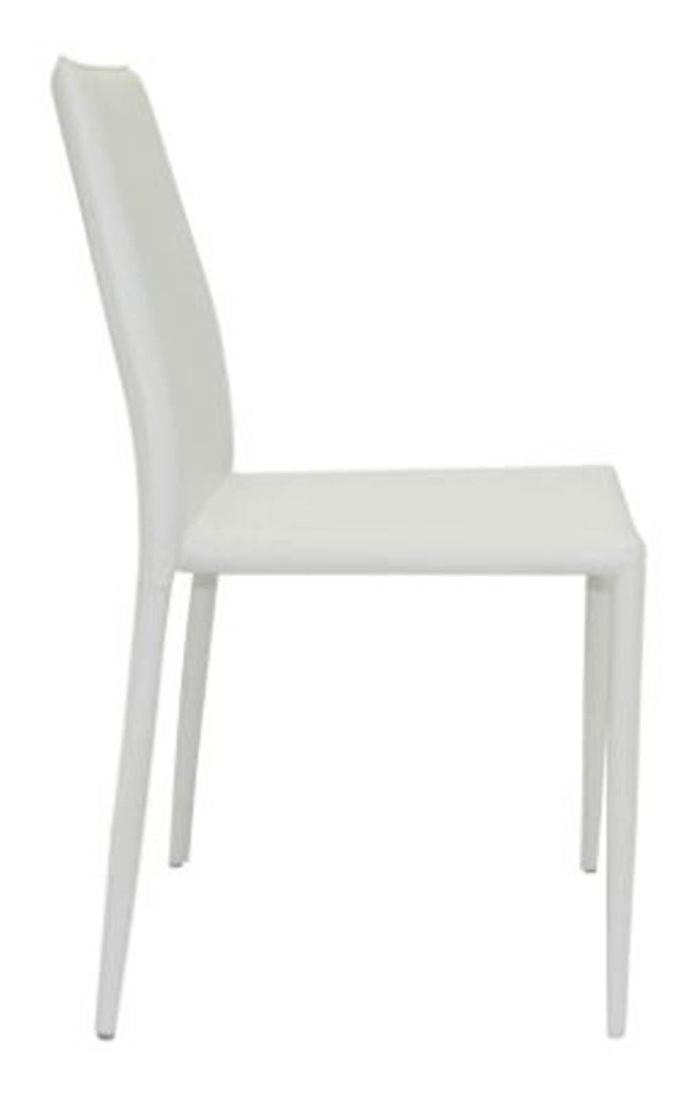 Cadeira Amanda 6606 em Metal PVC Branco - 28139
