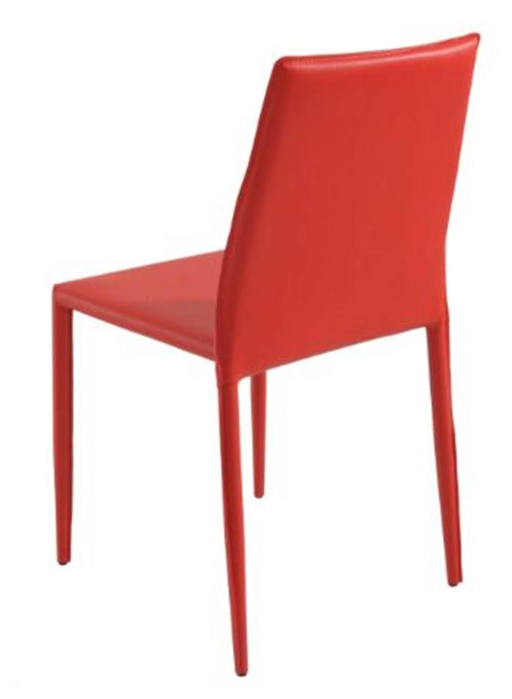 Cadeira Amanda 6606 em Metal PVC Vermelha - 30649