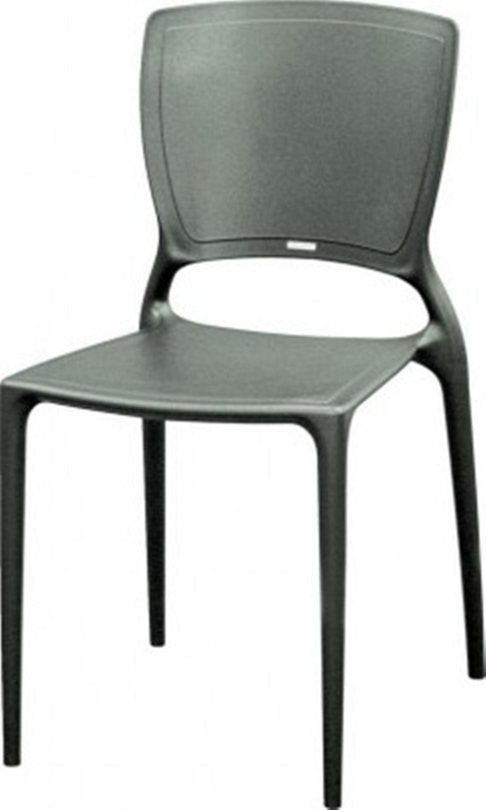 Cadeira Sofia Encosto Fechado Polipropileno Grafite - 20039