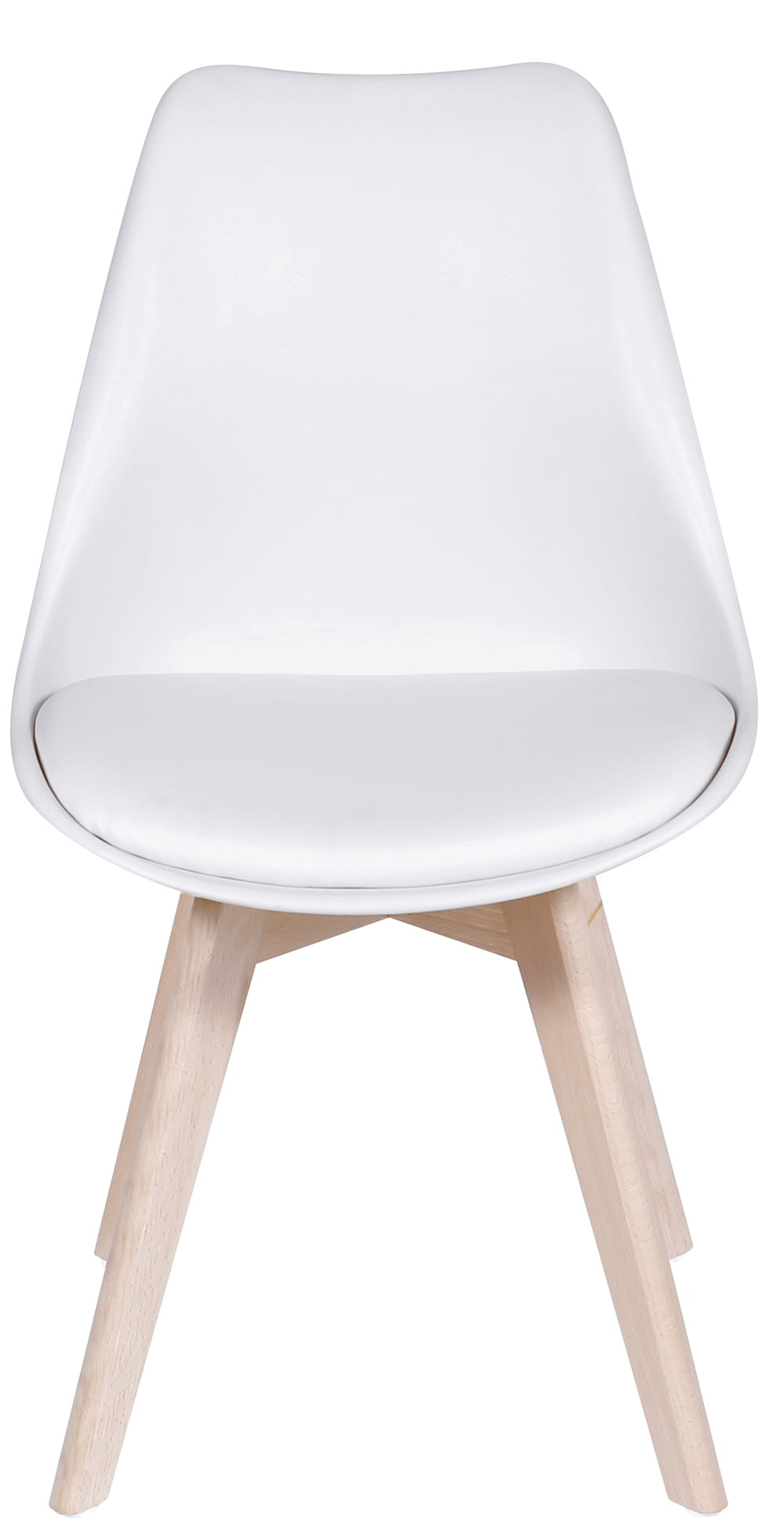 Cadeira Saarinen Branca Base Madeira - 32067