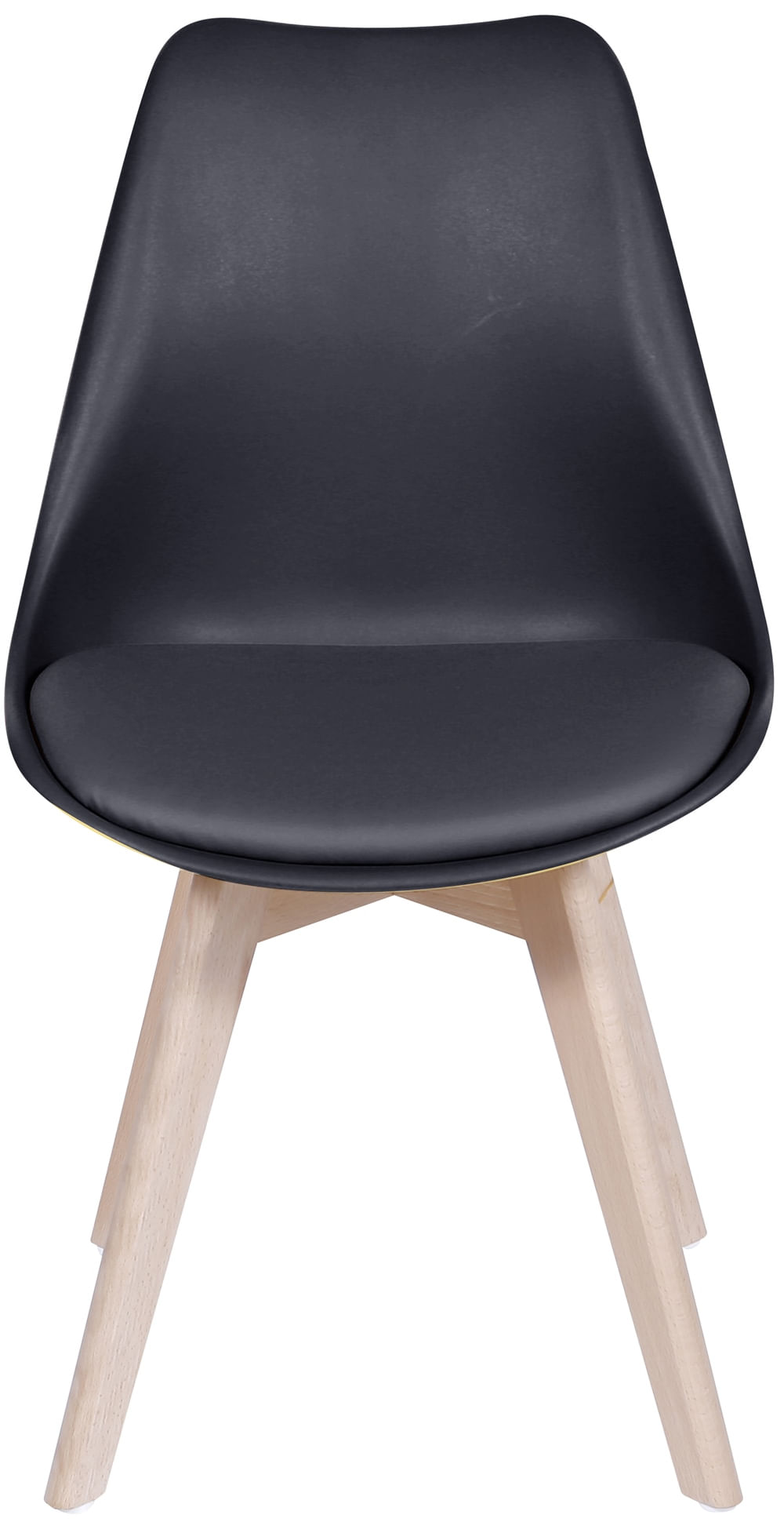 Cadeira Saarinen Preta Base Madeira - 32069