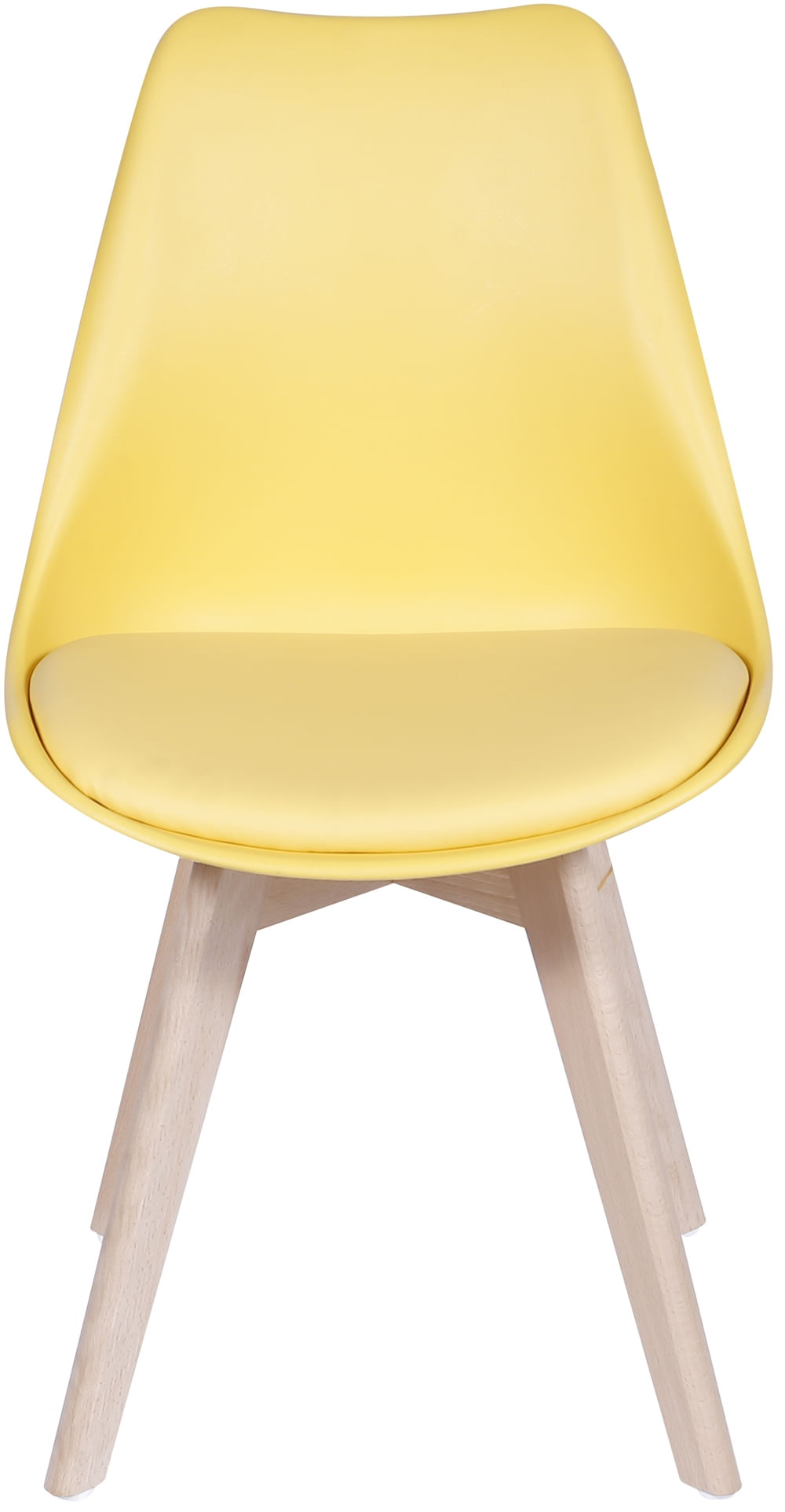 Cadeira Eames Leda 1108 Amarela Base Madeira - 32072