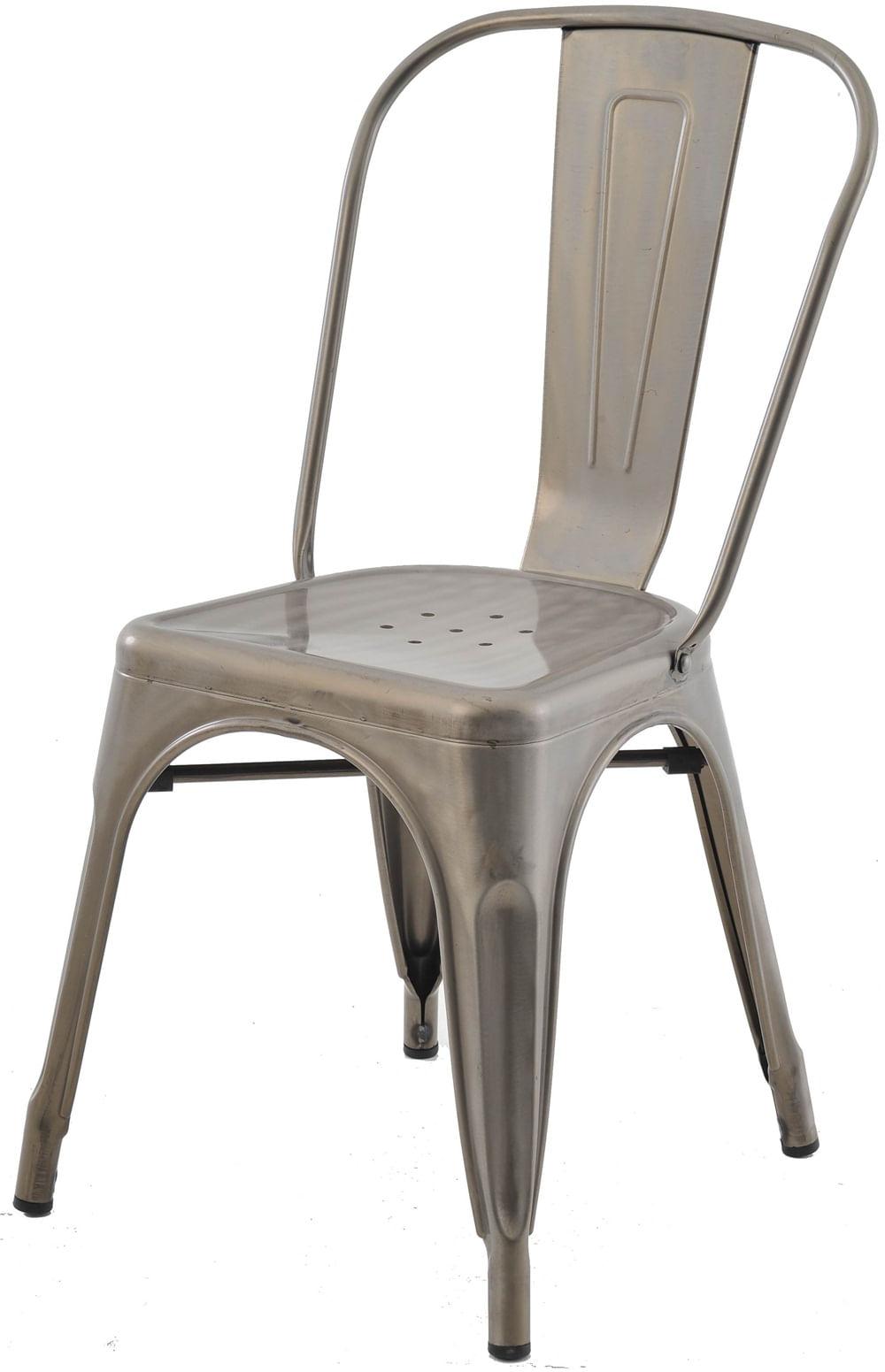 Cadeira Iron Tolix Sem Braco Vintage Aco Fosco - 29907