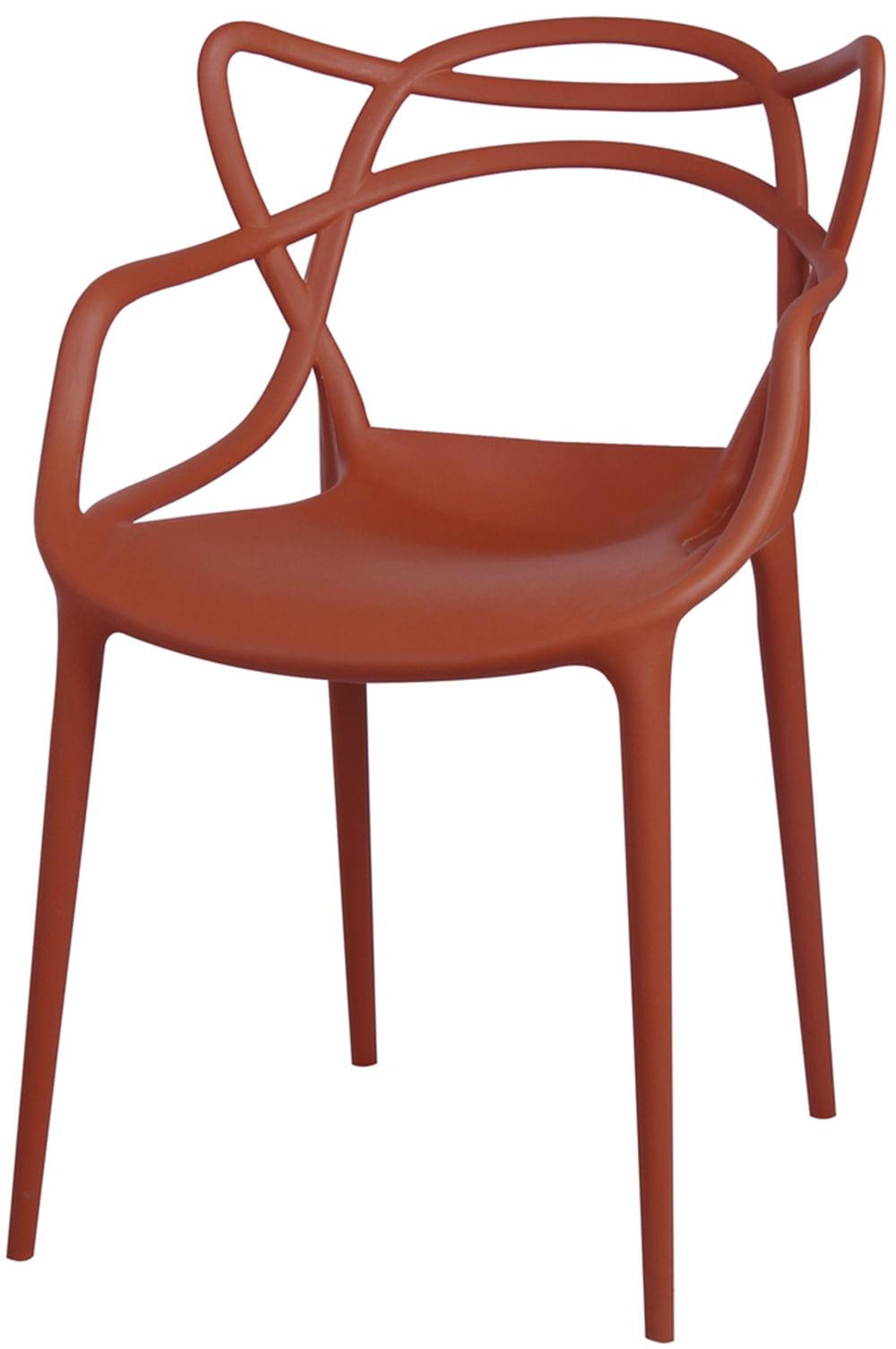 Cadeira Master Allegra Polipropileno Laranja Telha - 34301