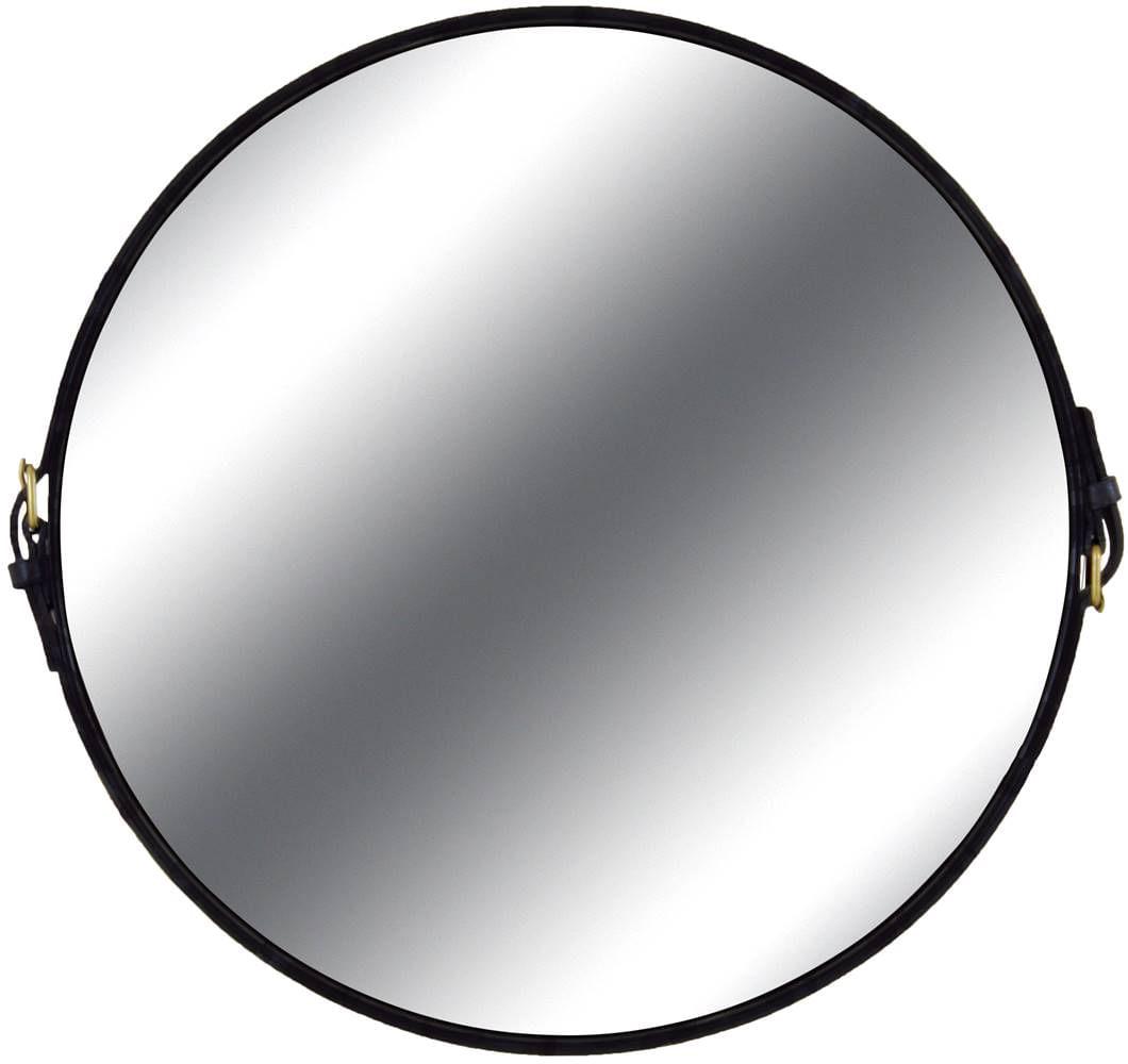Espelho Fontenelle Couro Preto 60 cm - 35729