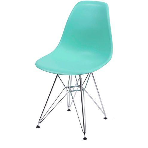 Cadeira-Eames-Polipropileno-Verde-Tiffany-Cromada---35834-