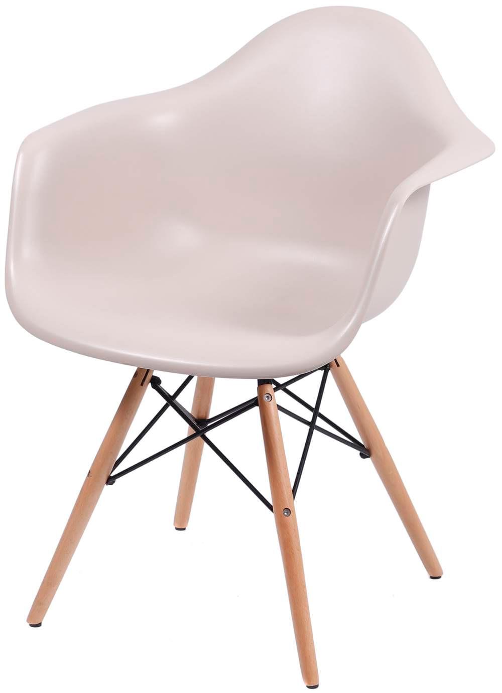 Cadeira Eames com Braco Base Madeira Fendi Fosco - 35833