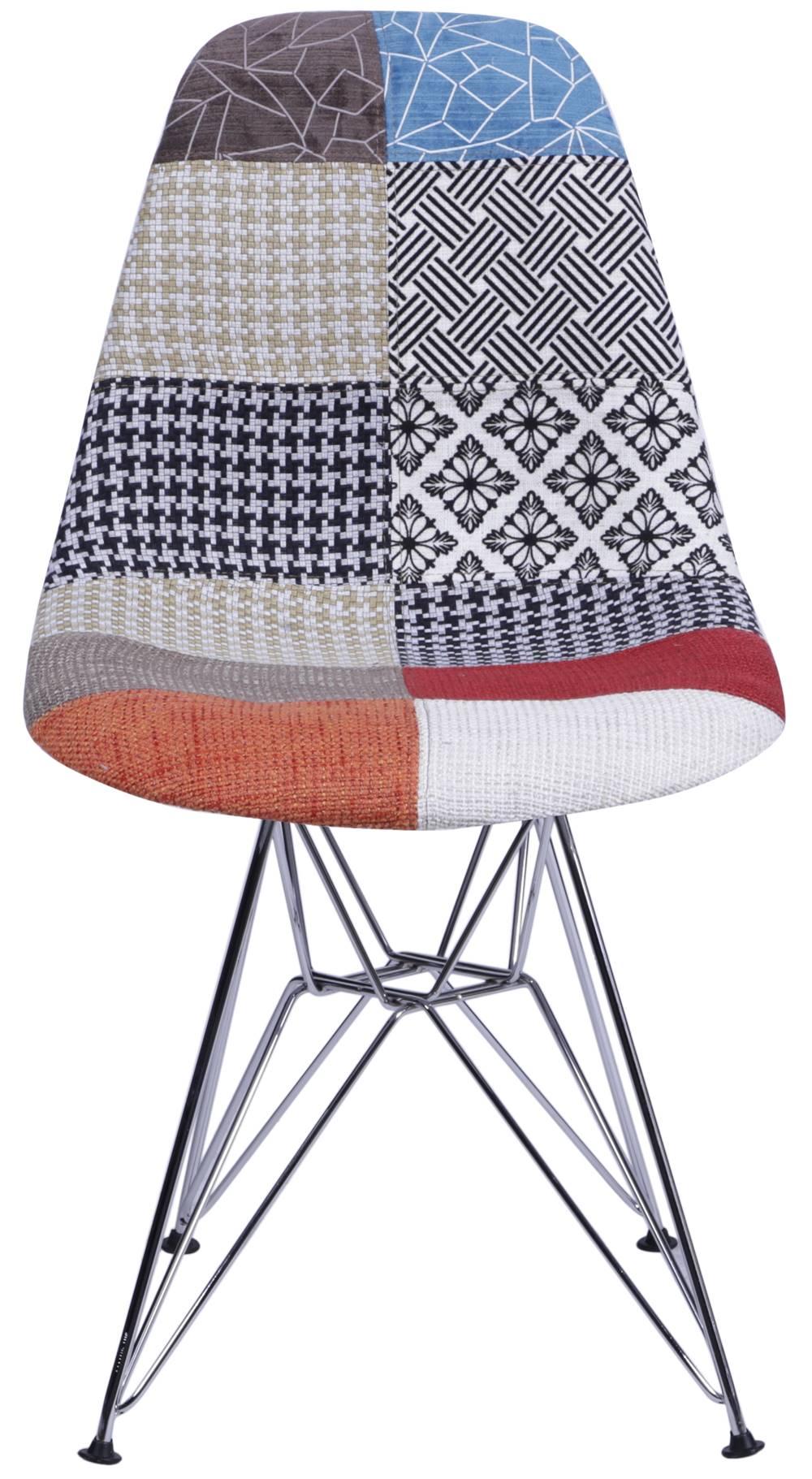 Cadeira Eames PatchWork Base Cromada - 25243