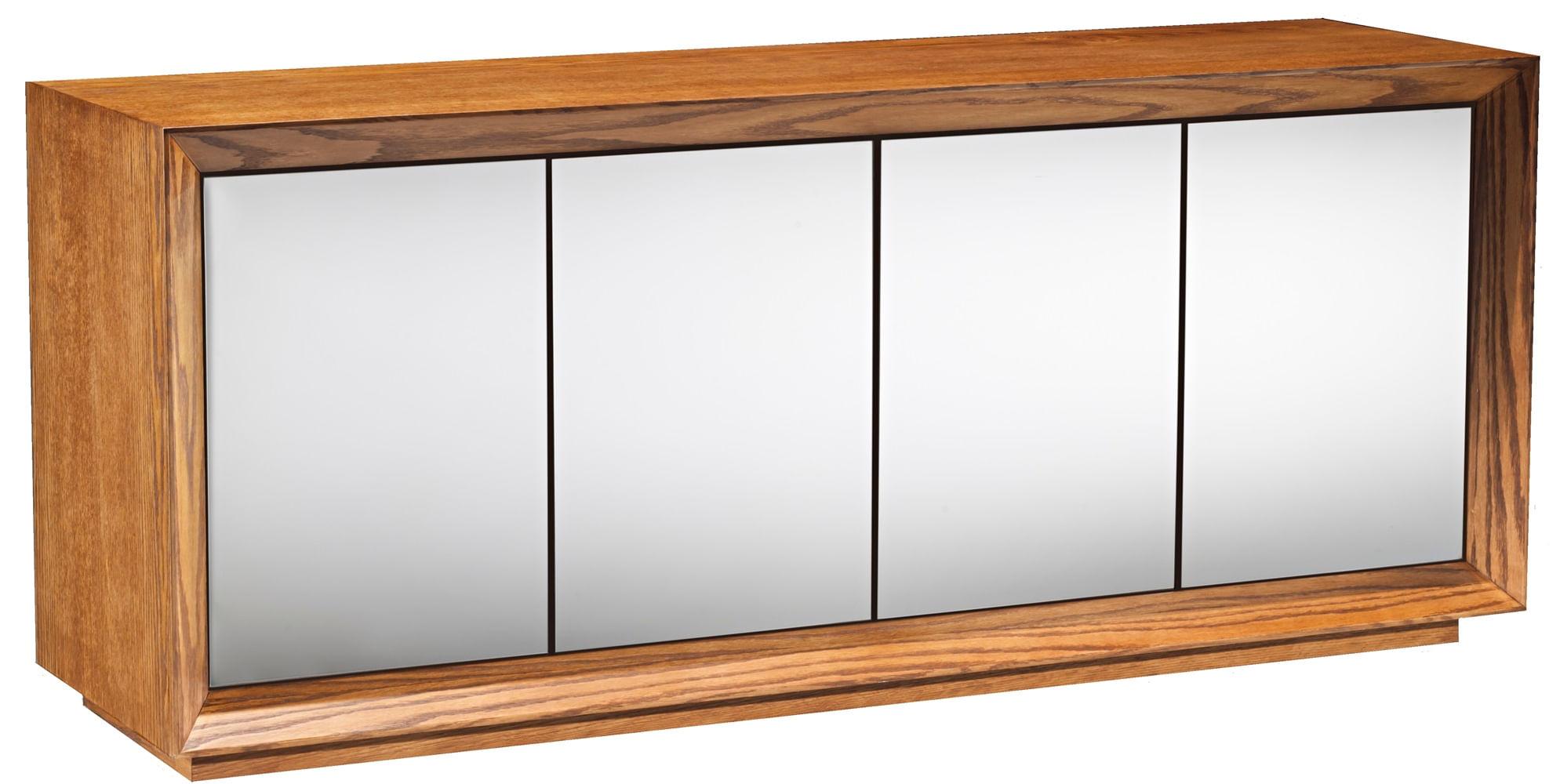 Buffet Passos Amendoa 4 Portas Espelho Prata 2,20 MT- 36103