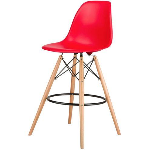 Banqueta-Eames-MKB-025-Eiffel-Vermelha-Base-Madeira---36222