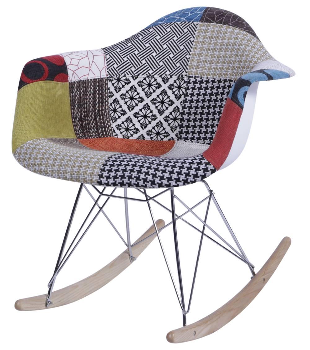 Cadeira Eames com Braco Base Balanco Patchwork - 36364