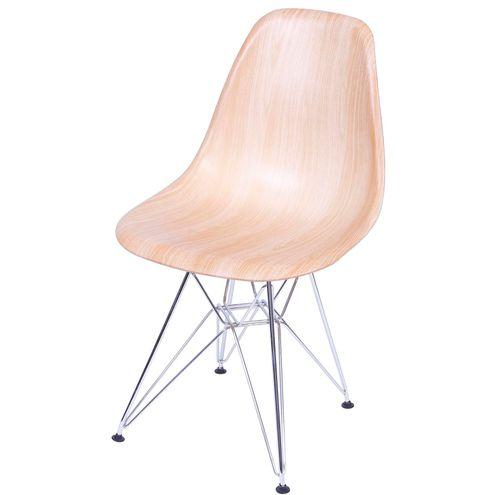 Cadeira Eames Polipropileno Madeira Cromada - 36781