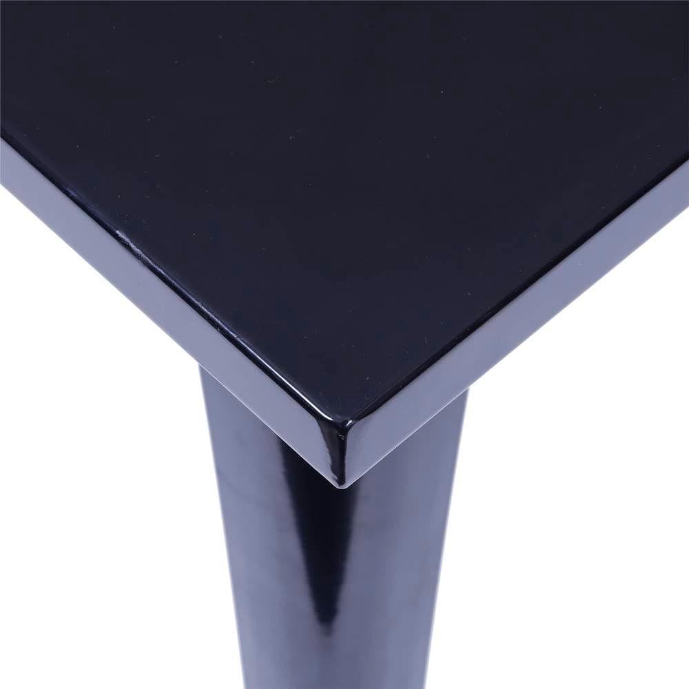 Mesa Iron Quadrada 80cm Preta - 36886