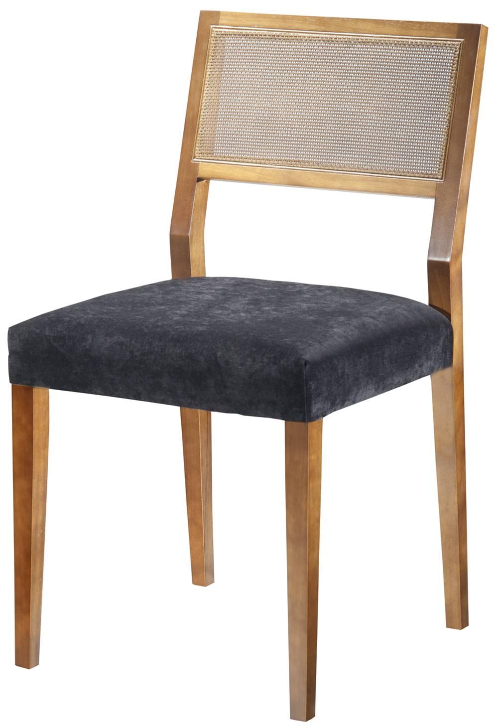 Cadeira Caiscais Encosto em Tela cor Nogal - 37383