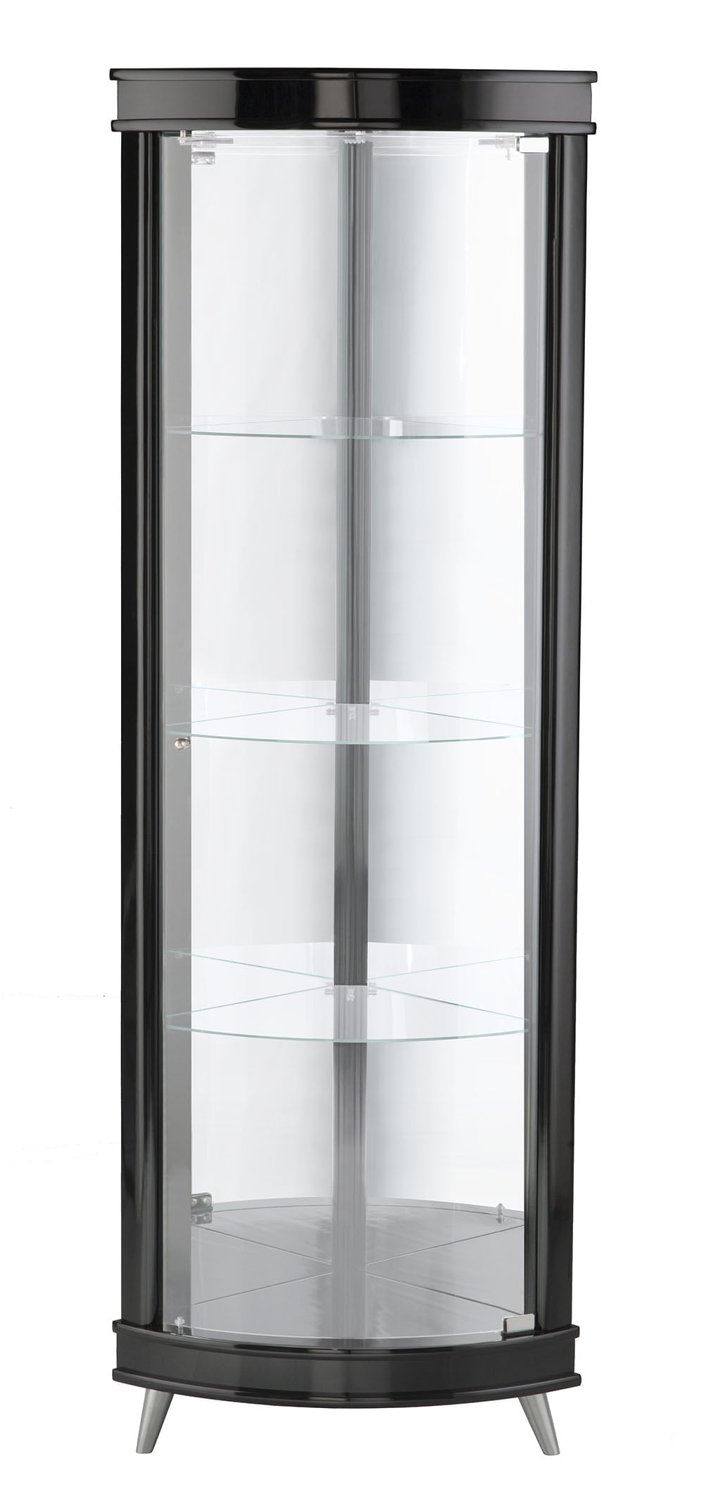 Cristaleira Corner Cor Laca Preto Semi-Brilho 43 cm (LARG) - 37350