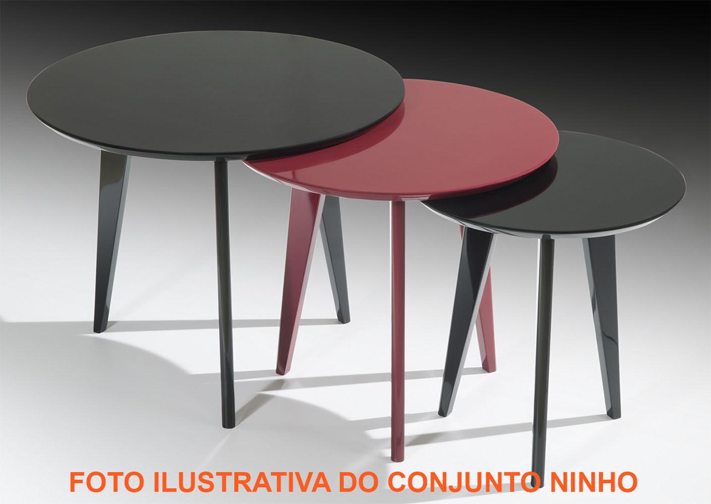 Mesa Centro Media Minerva Laca Marsala Semi-Brilho - 37561