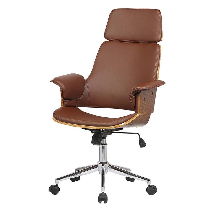 Cadeira-Office-Coimbra-PU-Marrom-Base-Rodizios