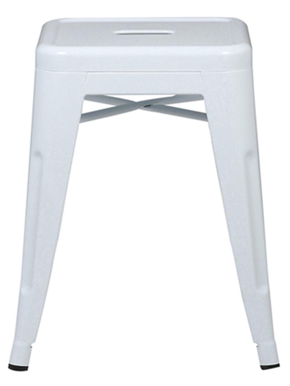 Banqueta Iron Baixa Cor Branca 46 CM (ALT) - 37985