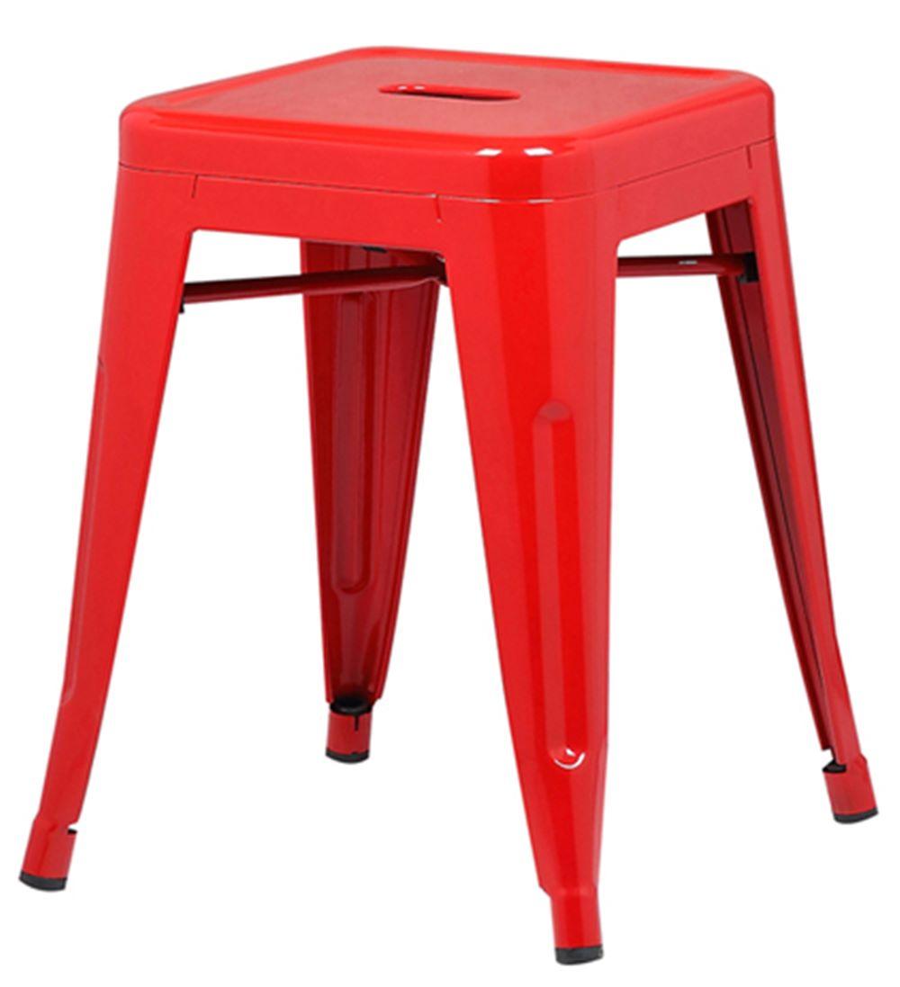 Banqueta Iron Baixa Cor Vermelha 46 cm (ALT) - 37988