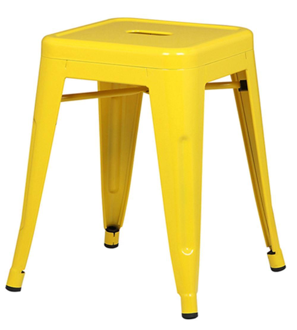 Banqueta Iron Baixa Cor Amarela 46 cm (ALT) - 37989
