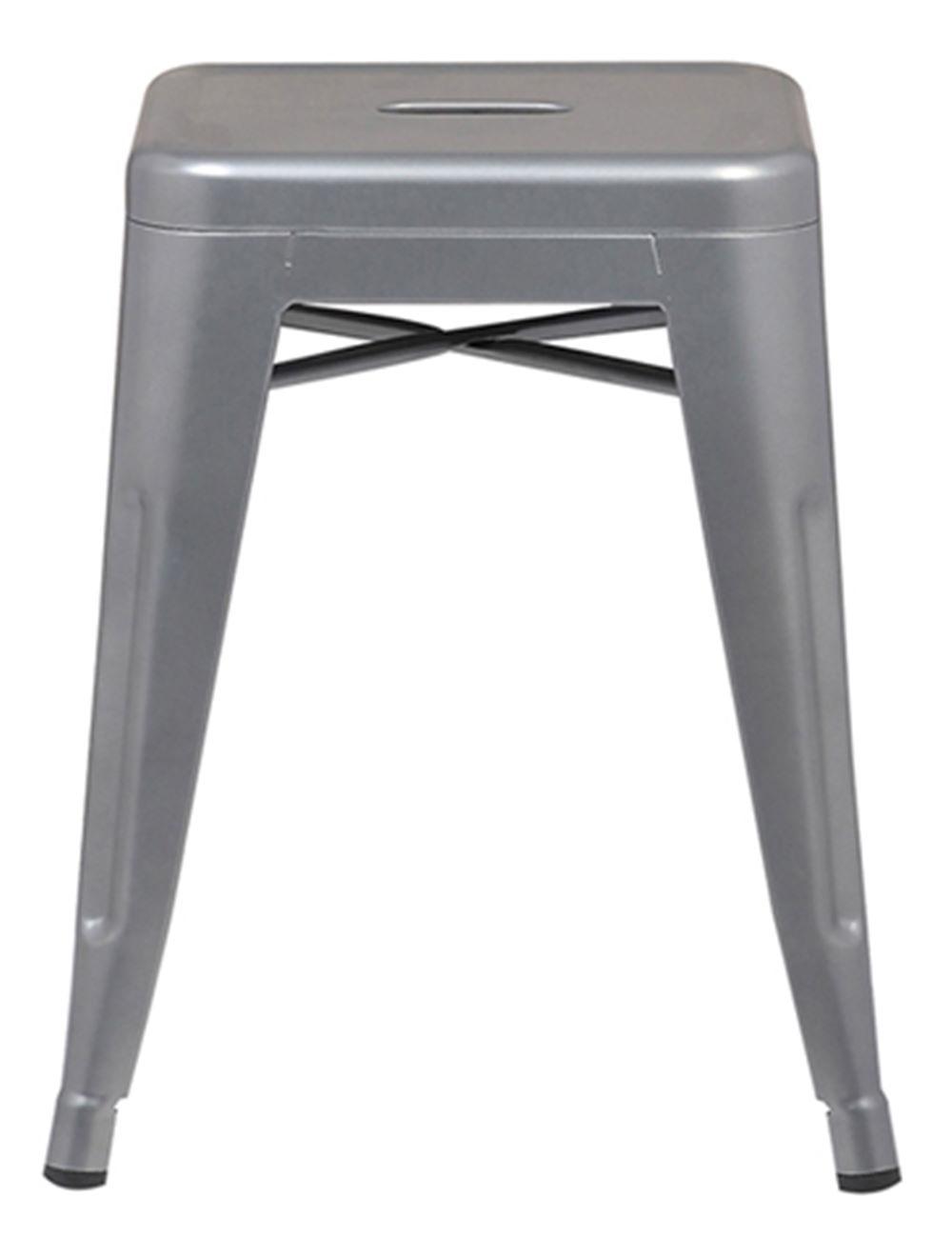 Banqueta Iron Baixa Cor Cinza 46 cm (ALT) - 37990