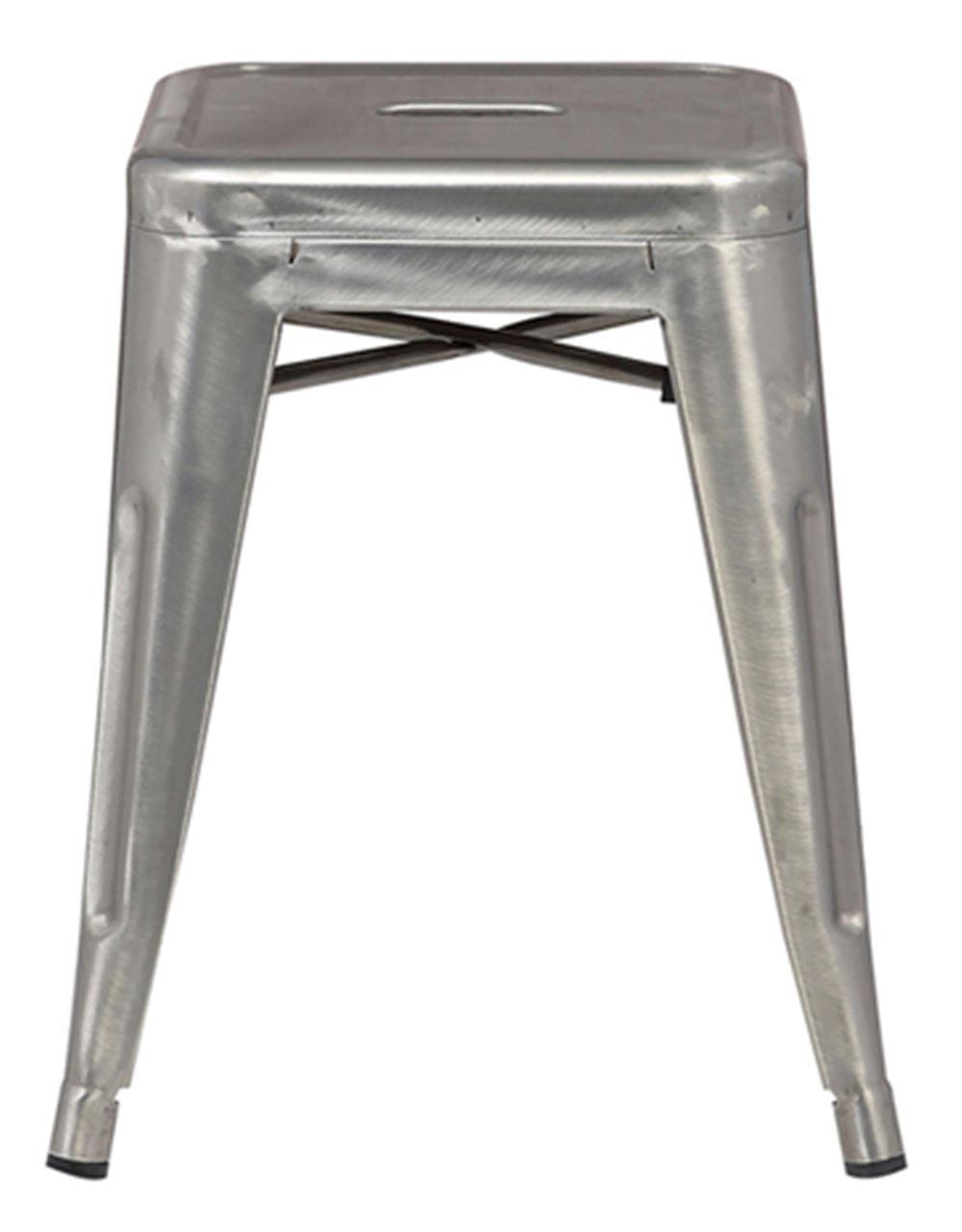 Banqueta Iron Baixa Cor Aco 46 cm (ALT) - 37991