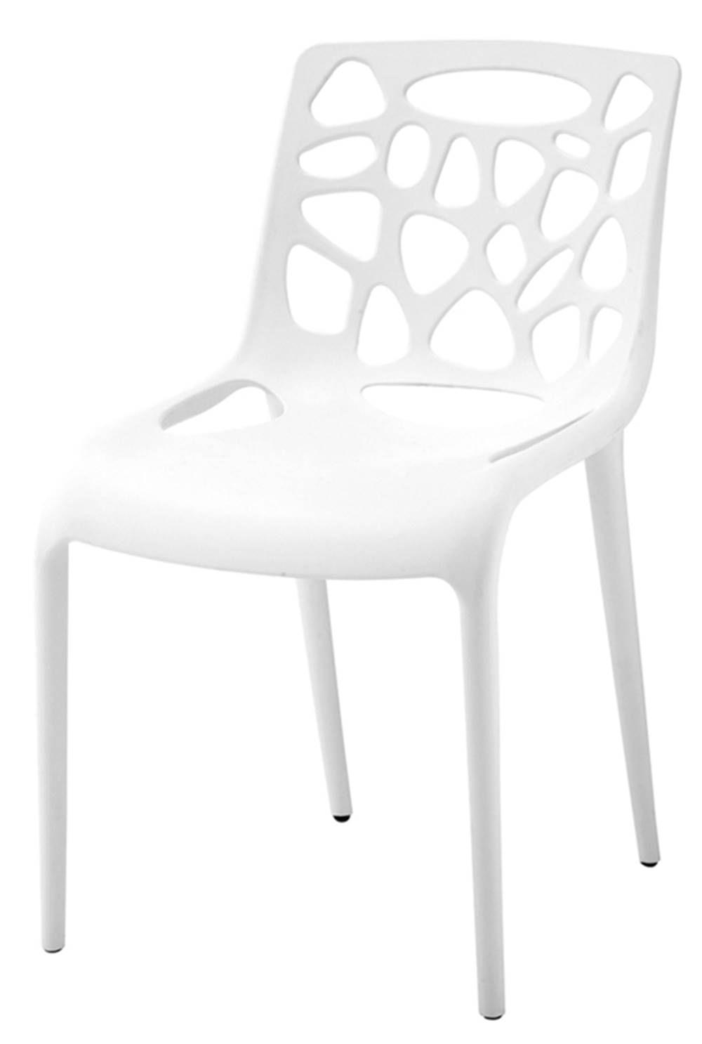 Cadeira Giovana Polipropileno Cor Branca - 11373