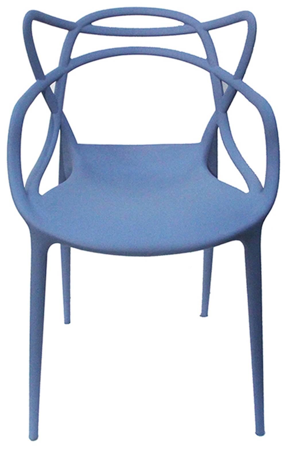 Cadeira Master Allegra Polipropileno Azul Caribe - 38025