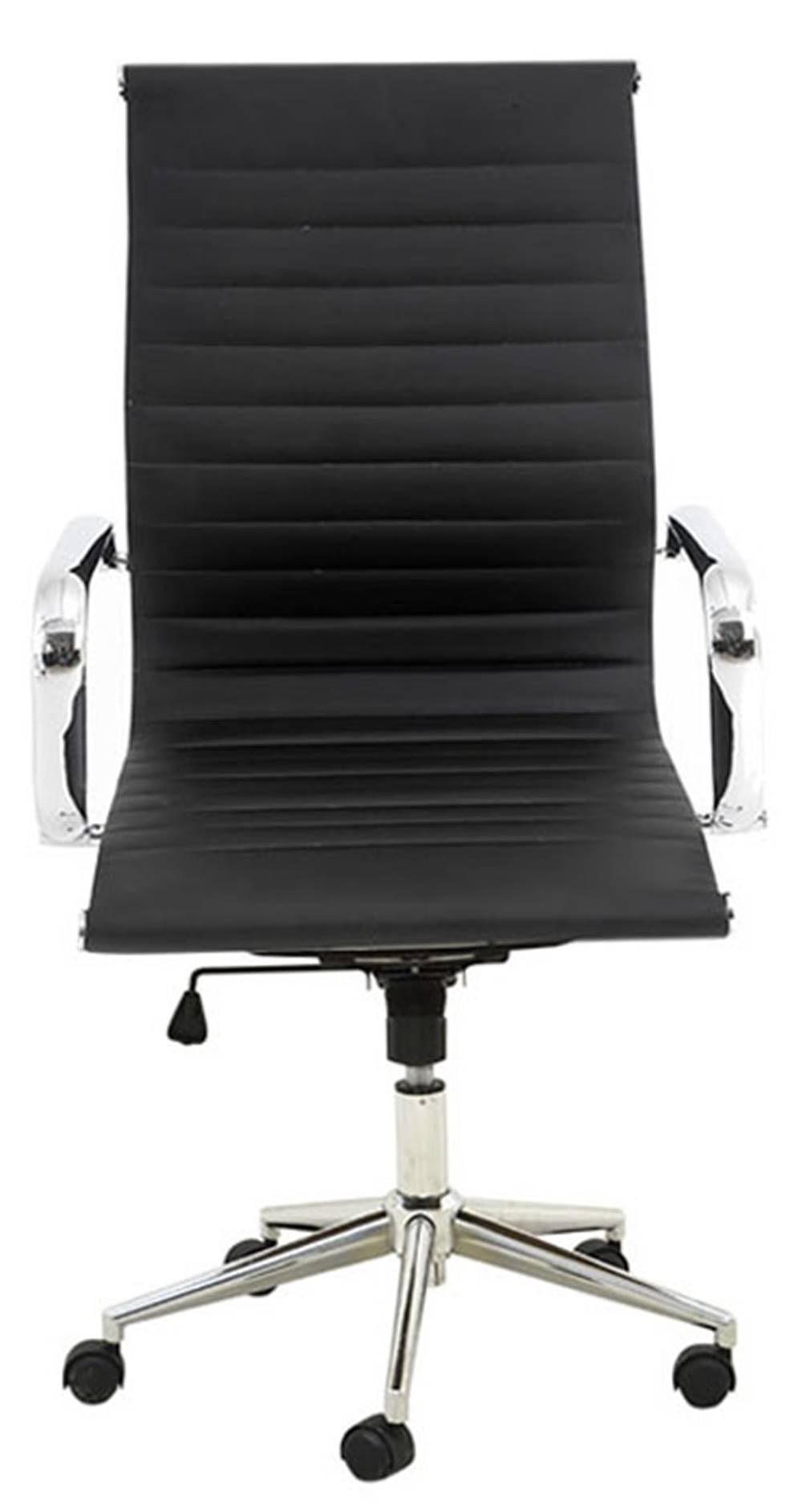 Cadeira Sevilha Eames Baixa Cromada PU Preta - 4950