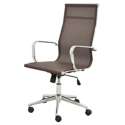 Cadeira-Sevilha-Eames-Alta-Cromada-Tela-Cafe