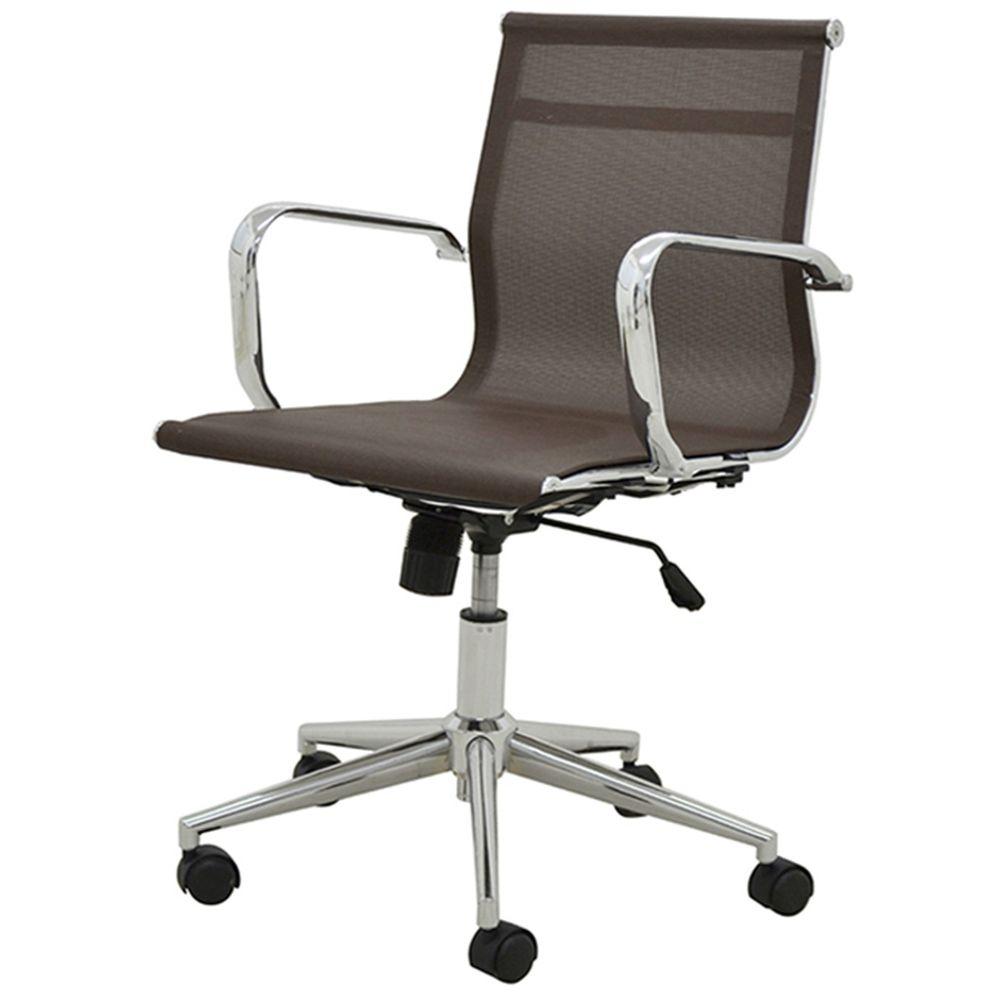 Cadeira Sevilha Eames Baixa Cromada Tela Cafe - 38050 - SunHouse 4d06351cdfe