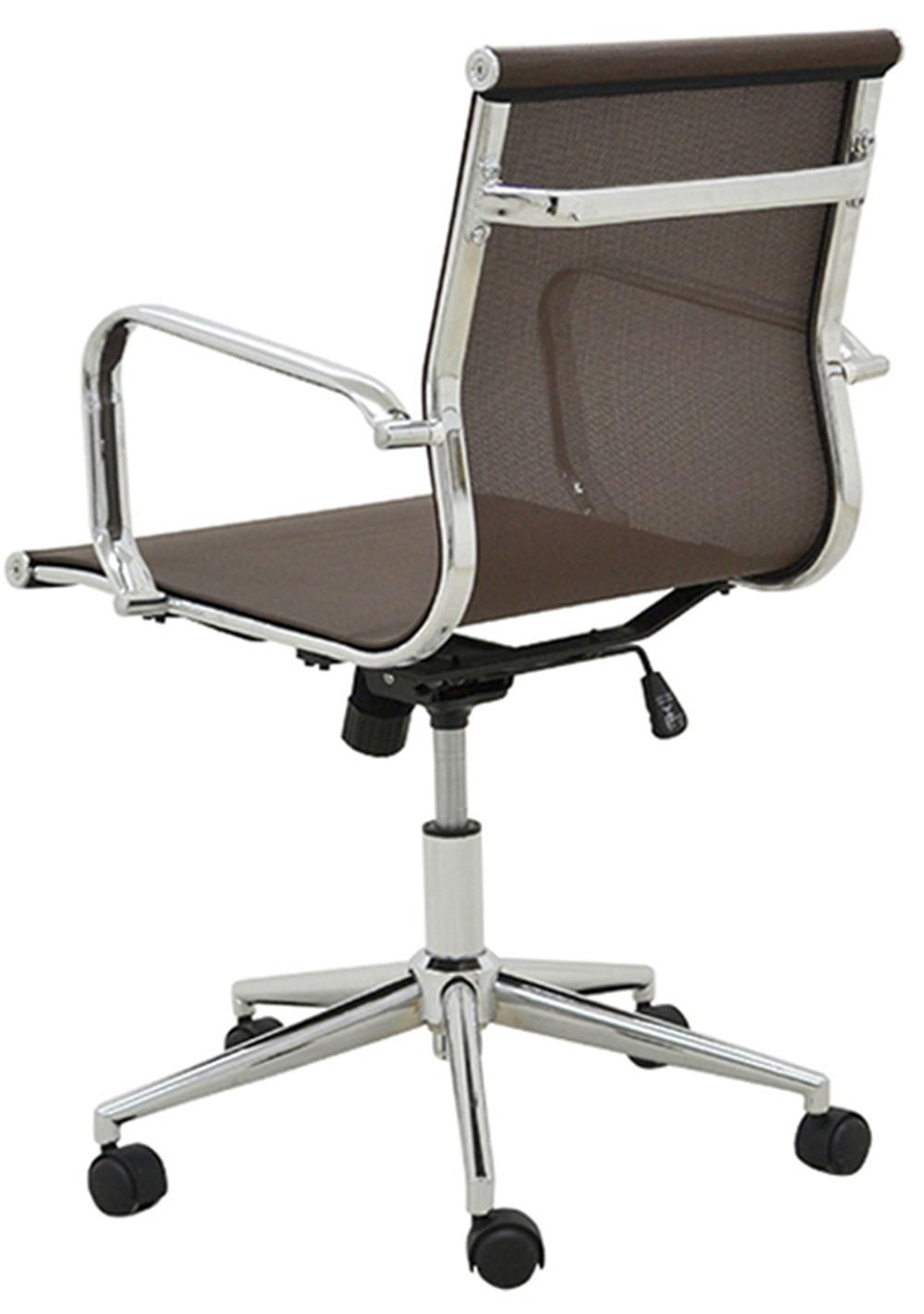 Cadeira Sevilha Eames Baixa Cromada Tela Cafe - 38050